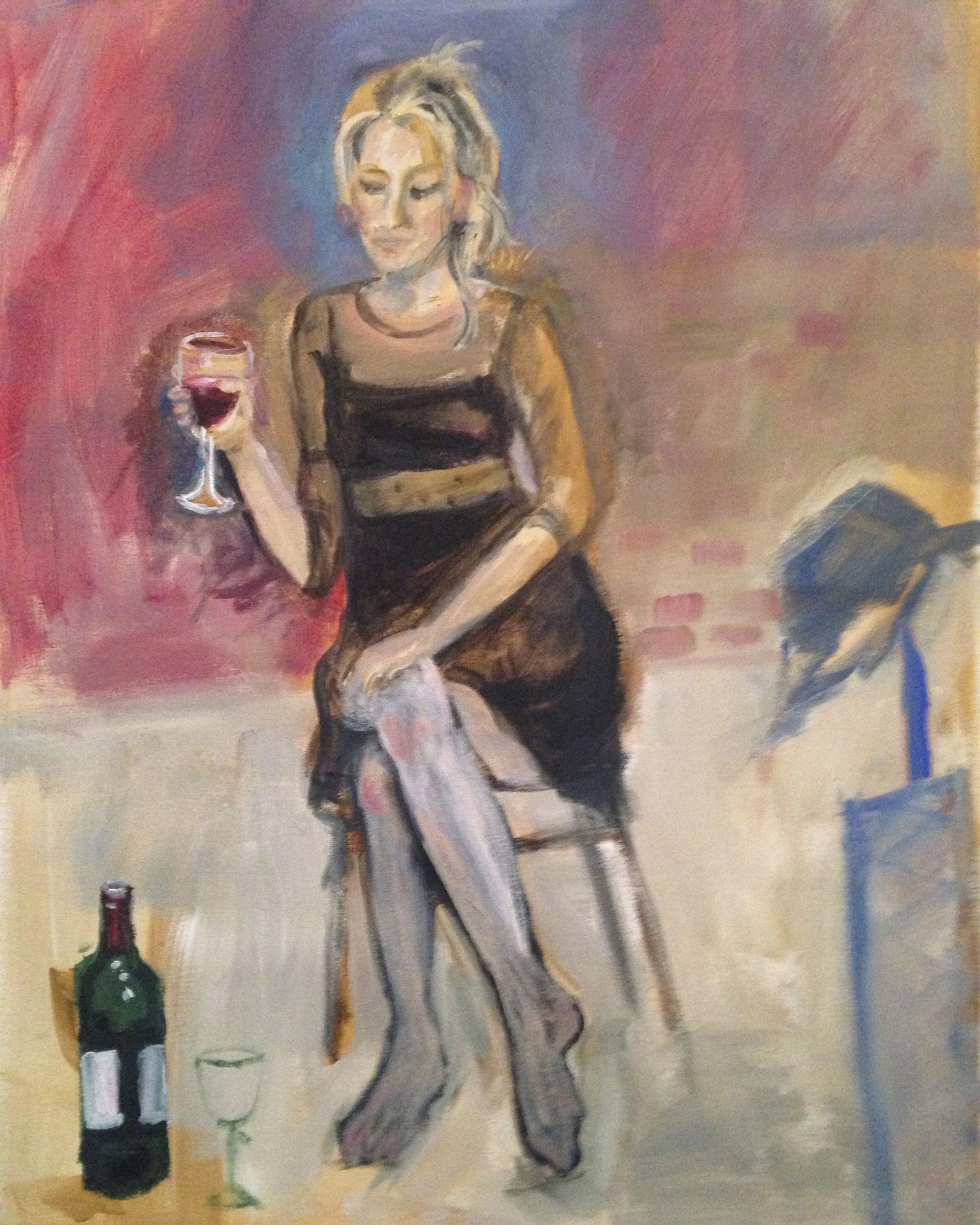 LUCY  Acrylic on Canvas   51 x 71 cm   2016