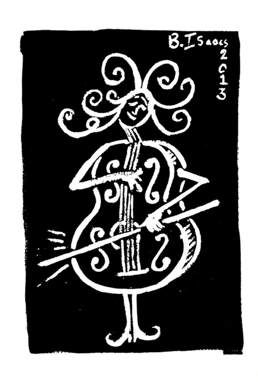 I AM A CELLO  Indian Ink on Watercolour paper | 38 x 31 cm (framed) | 2013