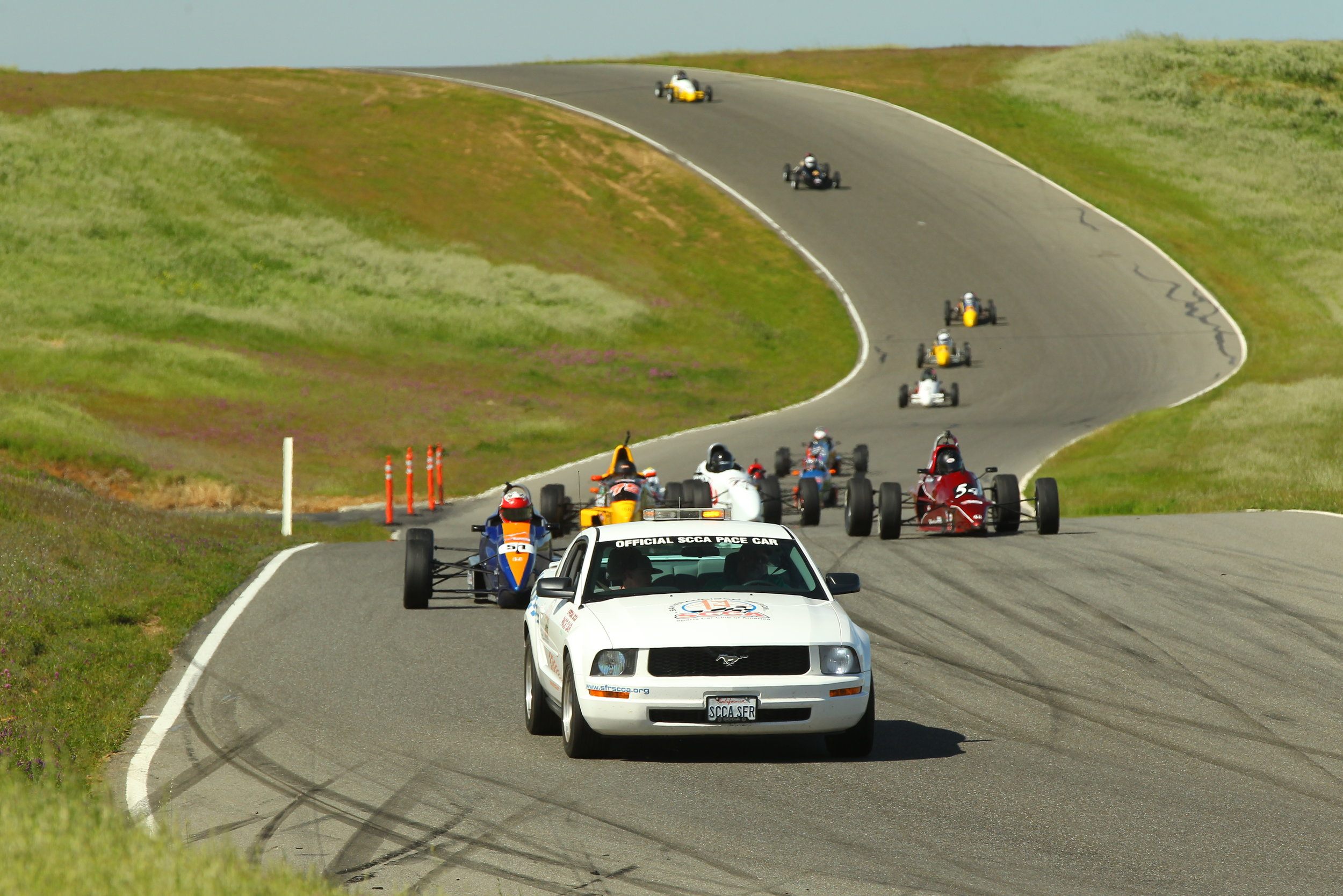 Pace lap for Sunday's race