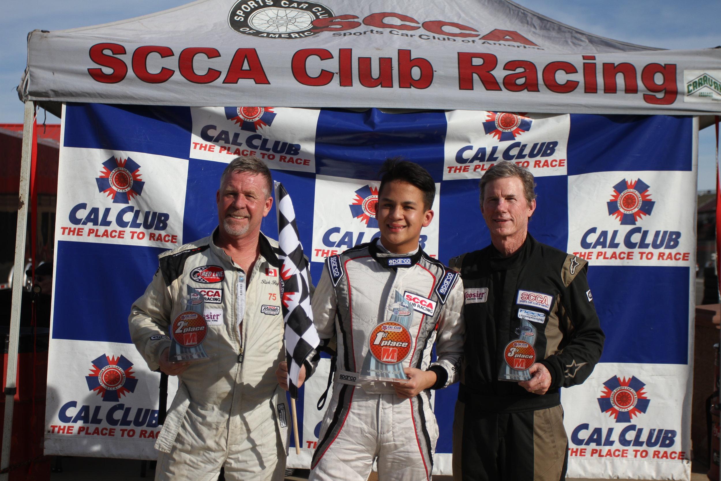 Sunday podium. 2nd Rick Payne, 1st Nicky Hays, 3rd Chuck Horn
