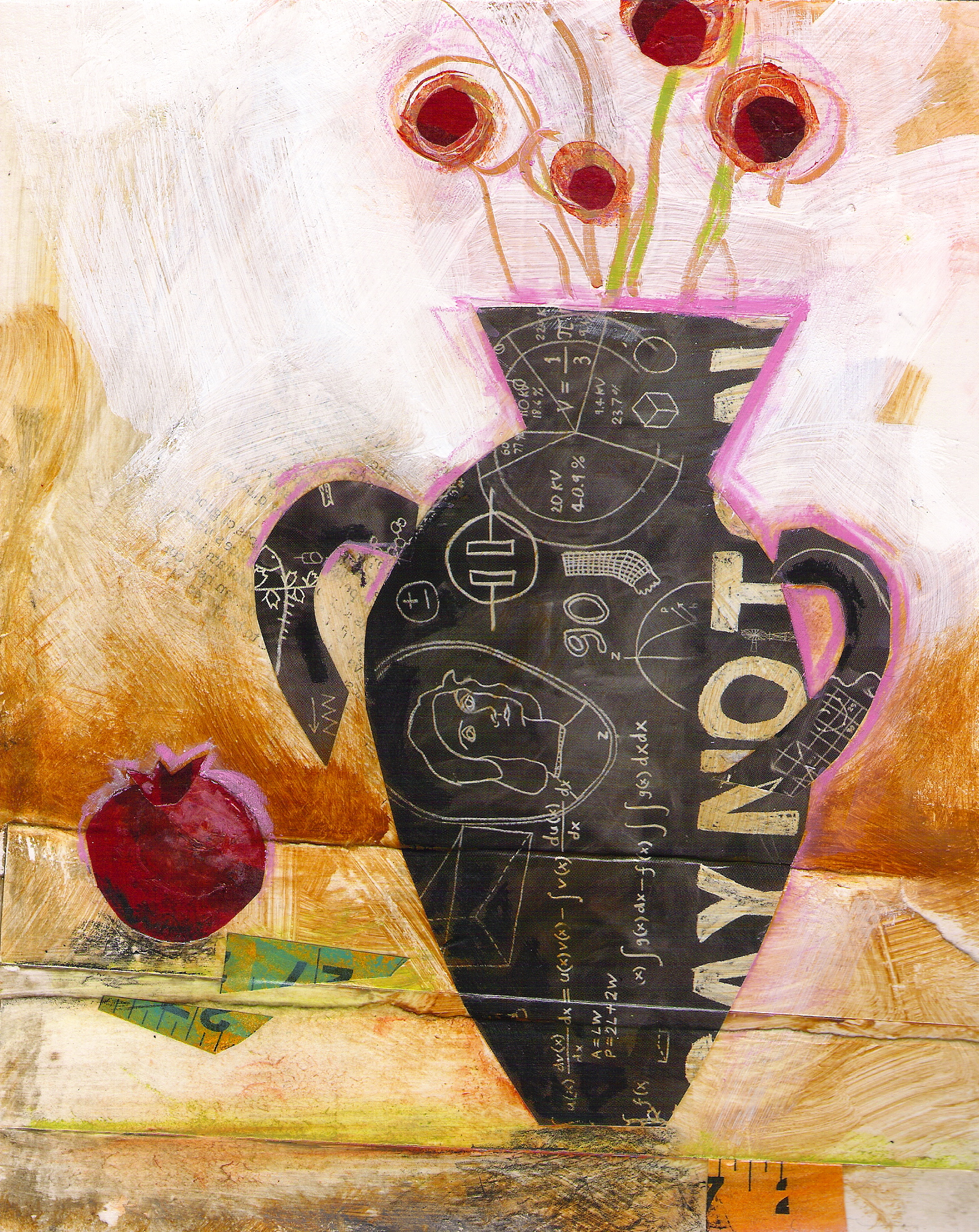 Vase  | mixed media collage | 8 x 10 | SOLD