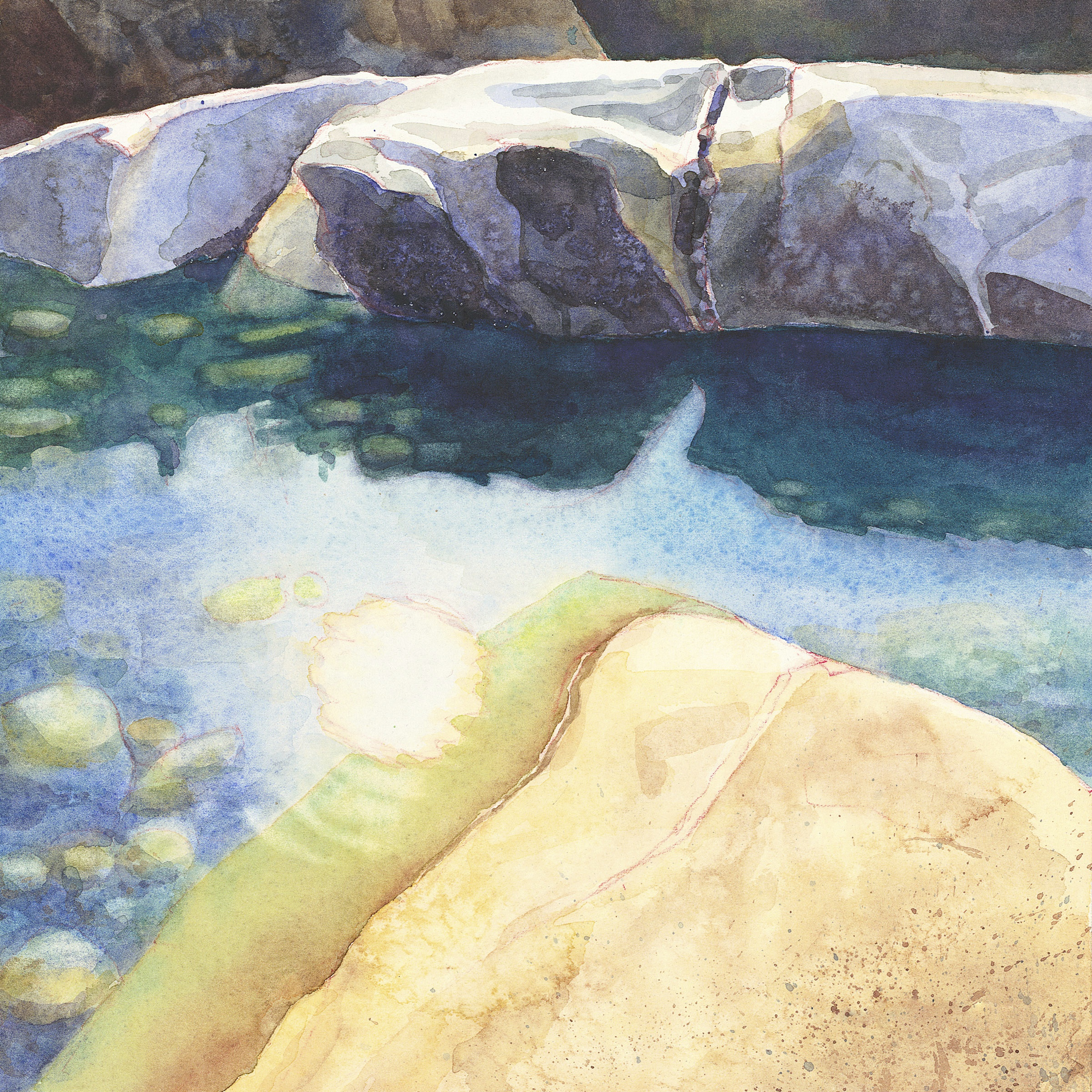 Yuba River in Winter  archival print  14 x 14 image  $100