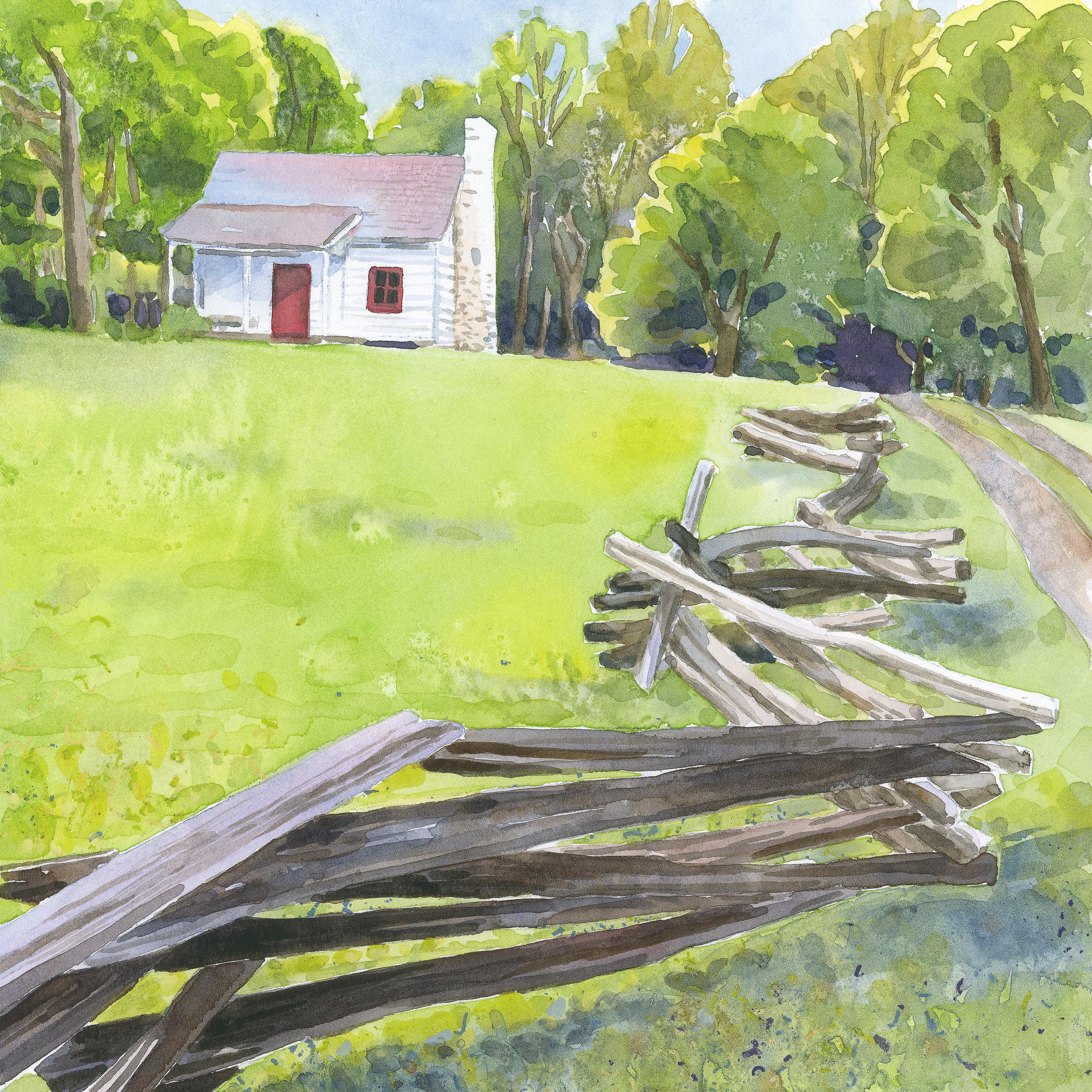 Gordonsville Cabin  archival print   8.5 x 8.5 image   $50