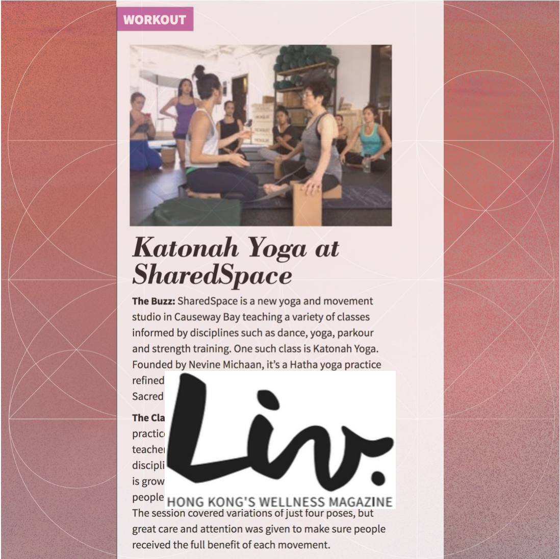 LIV - Clare Lim, the only certified Katonah Yoga® teacher in Asia… if you embrace the mindful movements, Katonah Yoga® can be highly beneficial to a diverse wellness routine.