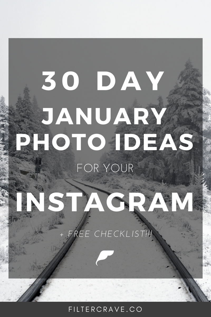 January Daily Photography Challenge - Filtercrave