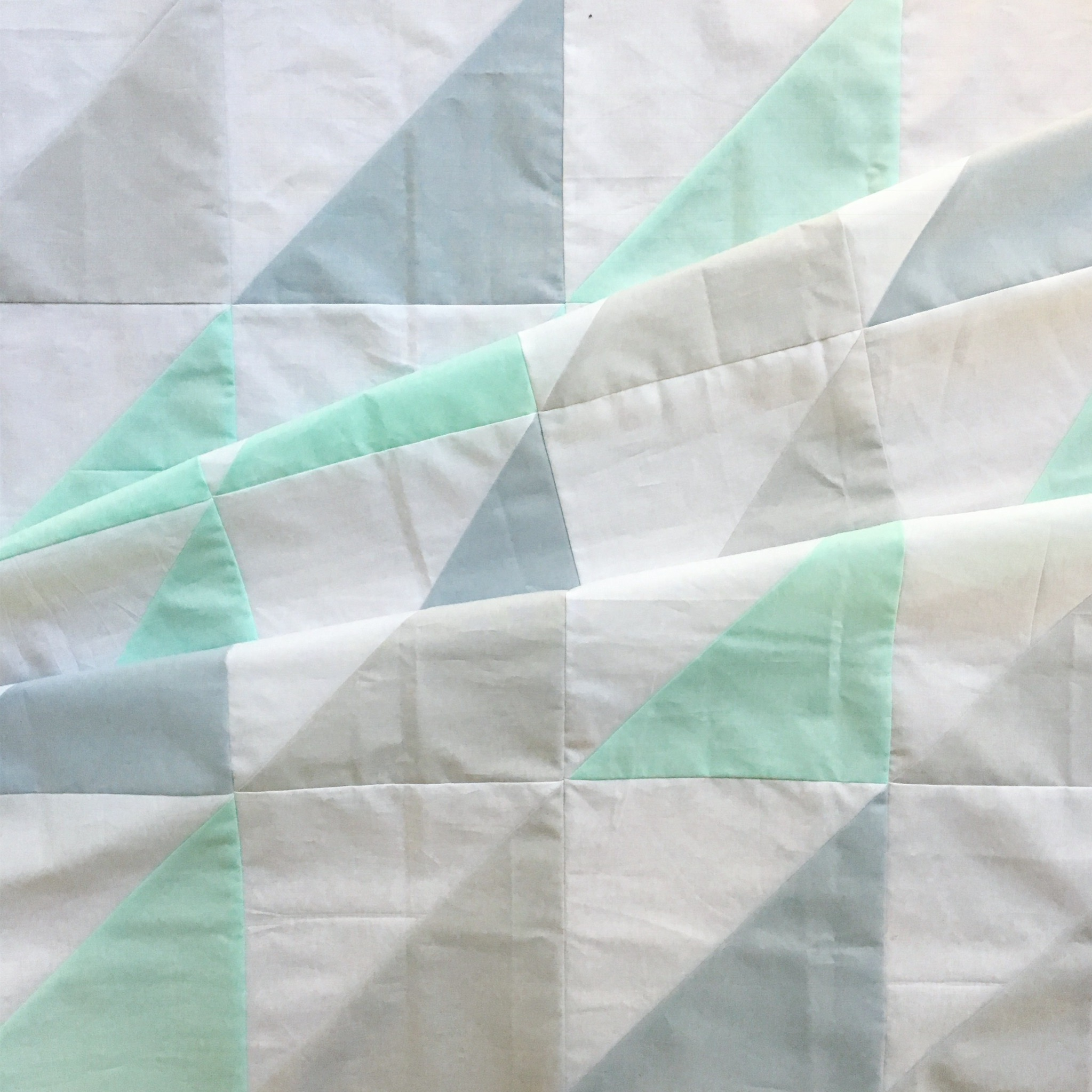 Half Square Triangles - Weekend Baby Quilt