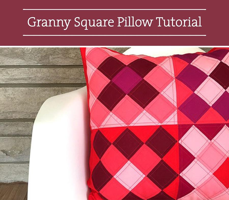 Valentine DIY Round Up: Granny Square Pillow. villageboundquilts.com