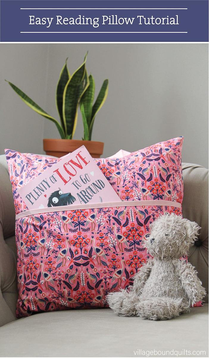 Valentine DIY Round Up: Easy Reading Pillow. villageboundquilts.com