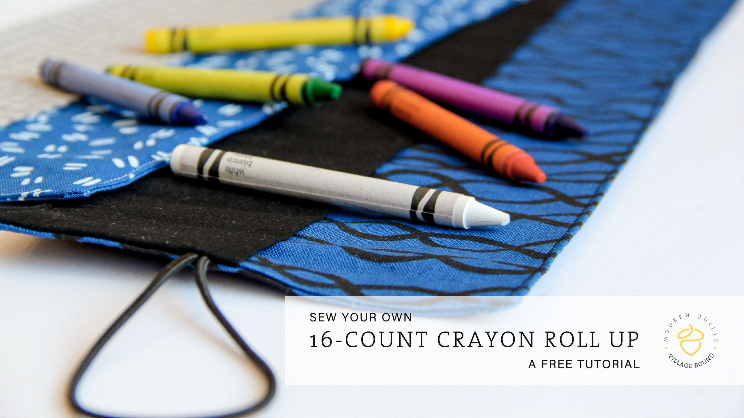 Crayon Roll Up: a free tutorial by Tiffany Horn, villageboundquilts.com