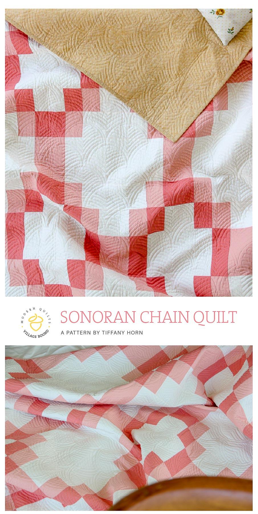 SonoranChainQuilt pattern by TiffanyHorn. villageboundquilts.com