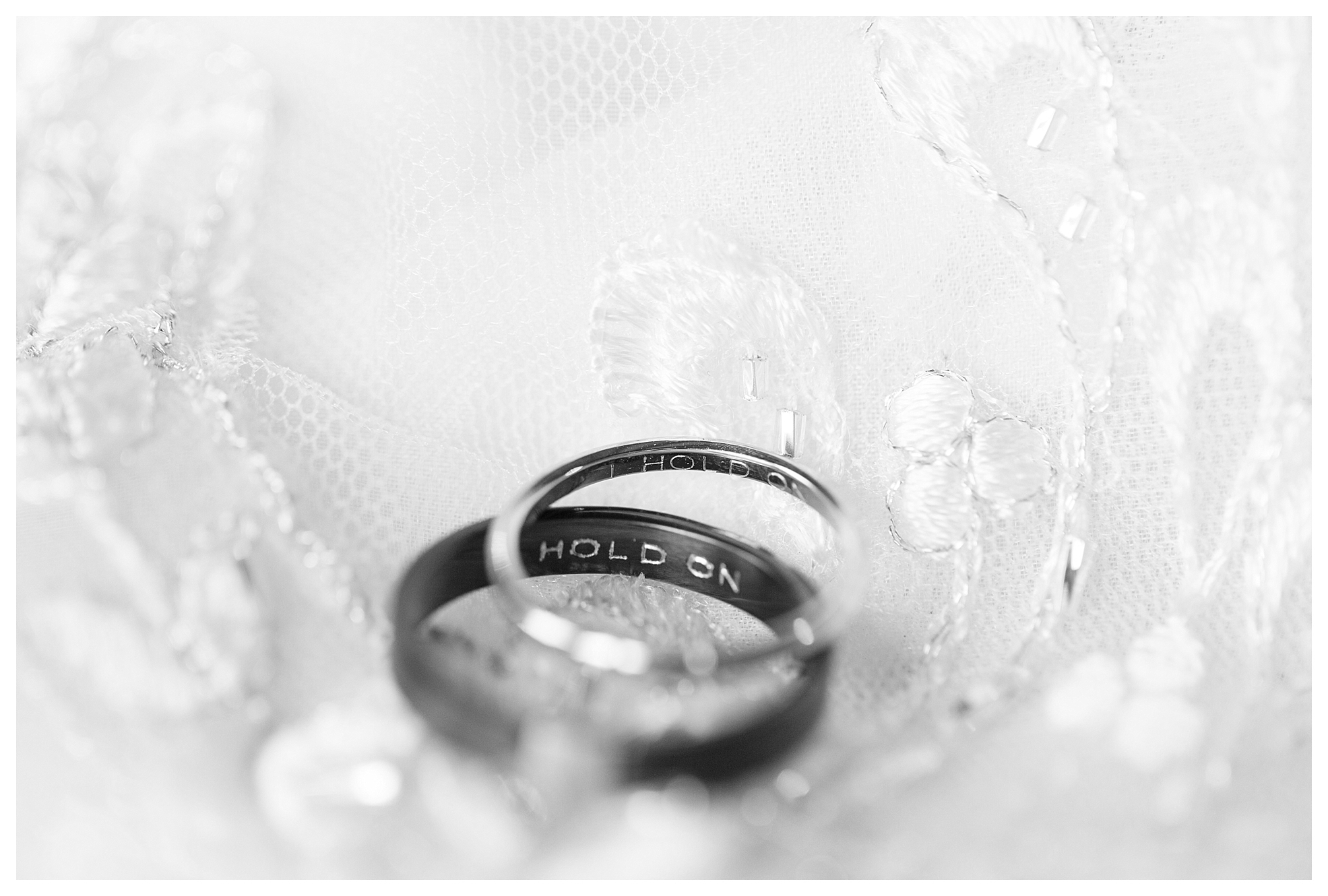 """I hold on"" was engraved in their rings, and was also their first dance song!"