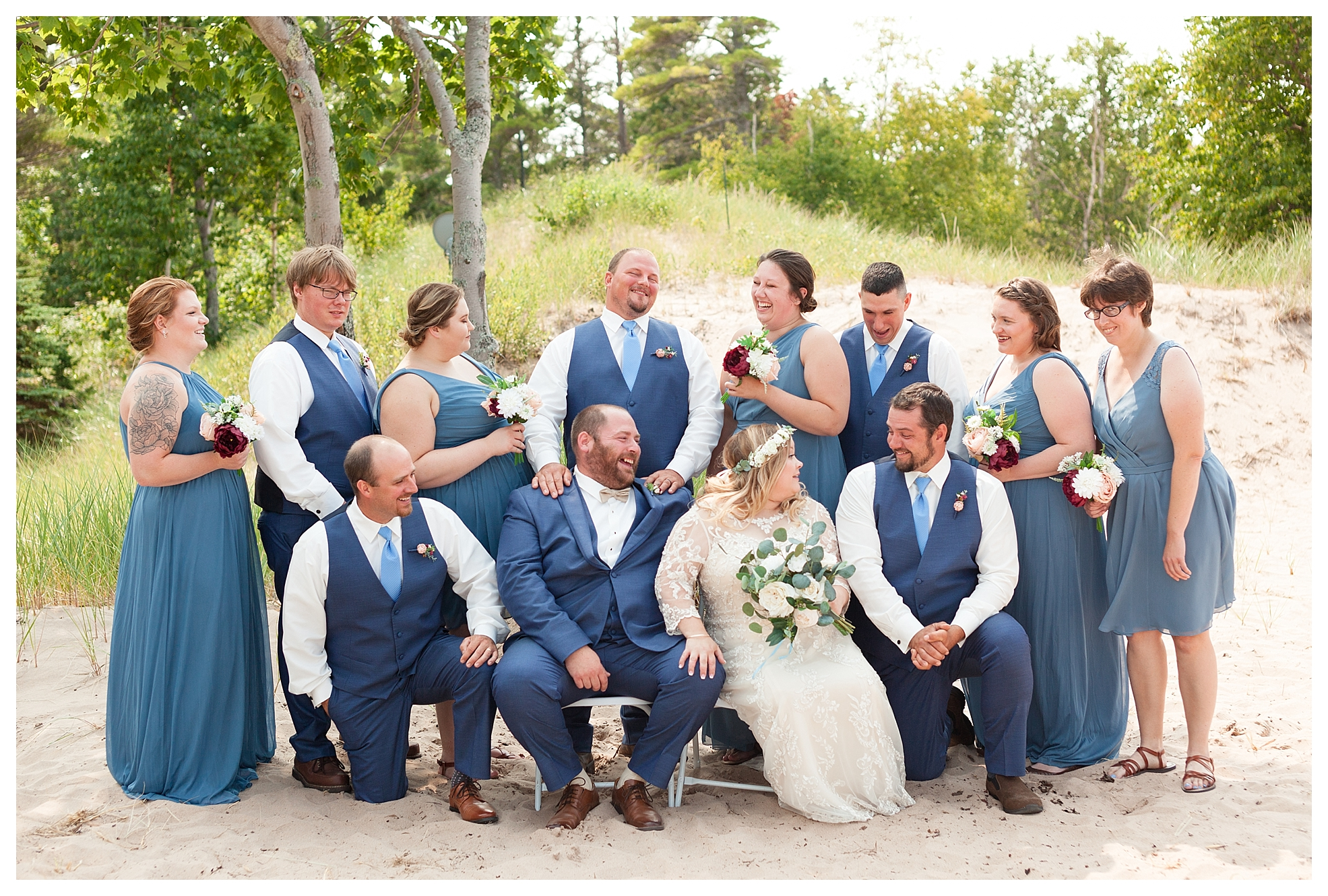 This bridal party kept me laughing all day!