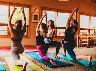 Morning yoga instruction