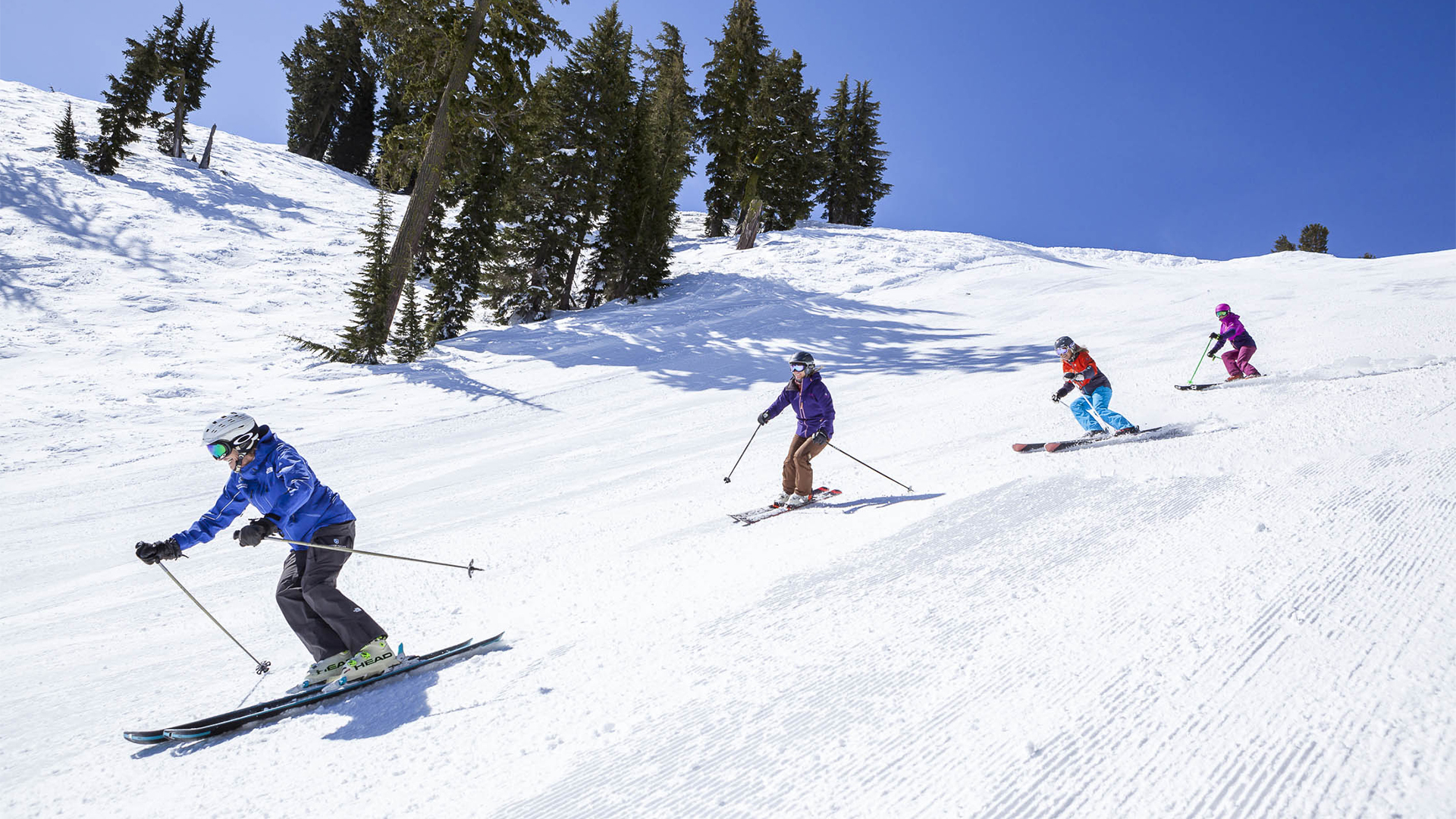 Making turns on  the slopes