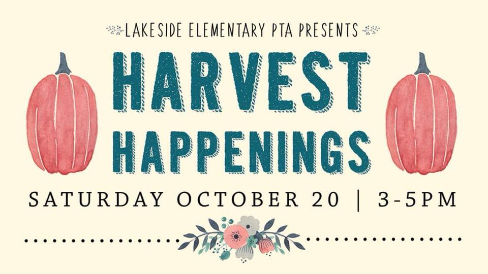 WIGGLESTICK NATION :  Come join us this weekend for Harvest Happenings , The Annual Fall Festival @ Lakeside Elementary , Saturday 3pm-6pm!!  Pulled Pork Sliders Brisket Totchos Pulled Pork / Brisket Mac & Cheese Smoked Chicken Panini, Caramelized Onions, Baby Mozzarella