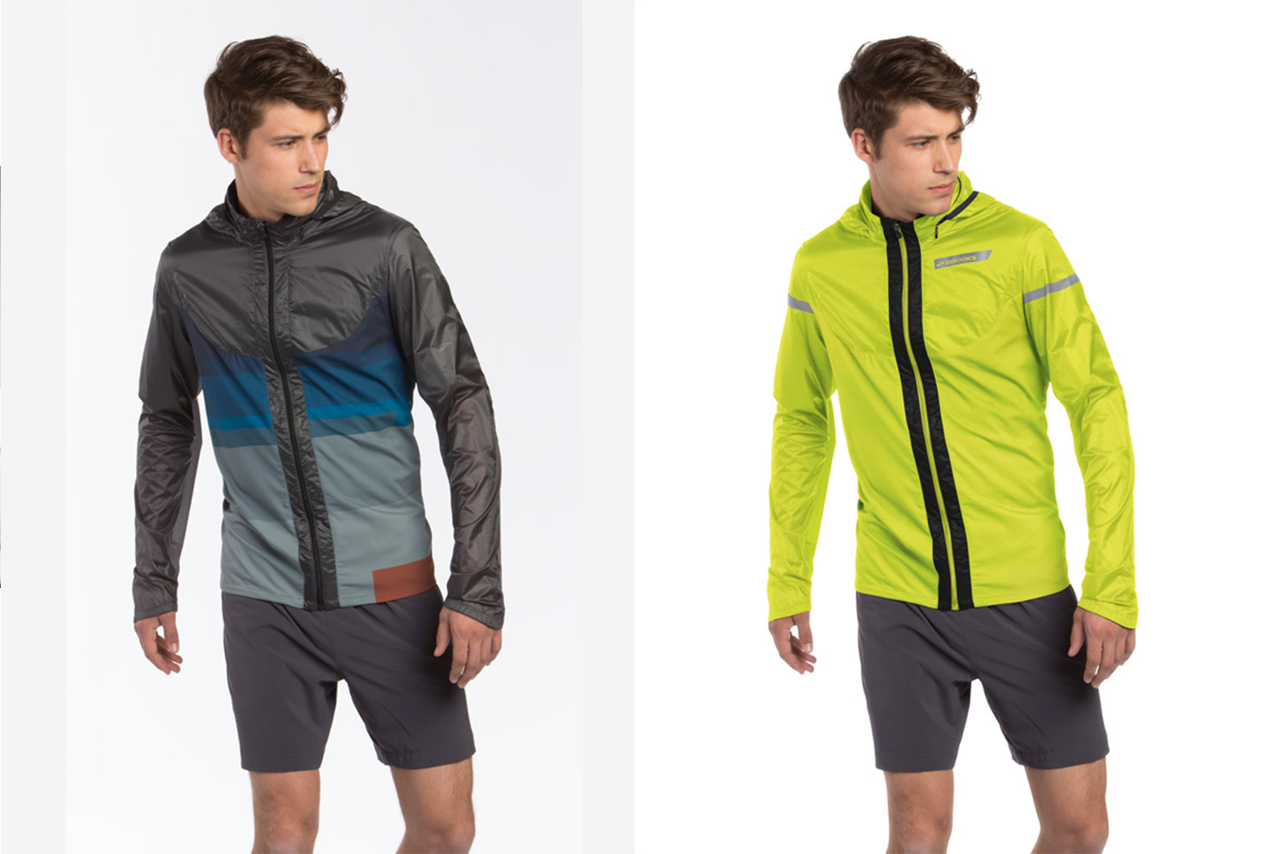 Shoot and rebuild. The image on the left was a prototype jacket to create shape and form - the Jacket on the right was retouched and rebuilt for early consumer release.