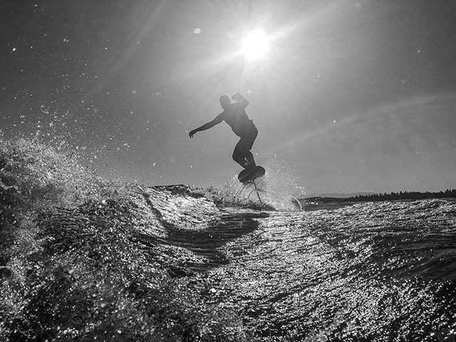 The salad days of summer. Get out there. #summertimemoves #foil #wakesurfing #pacnw
