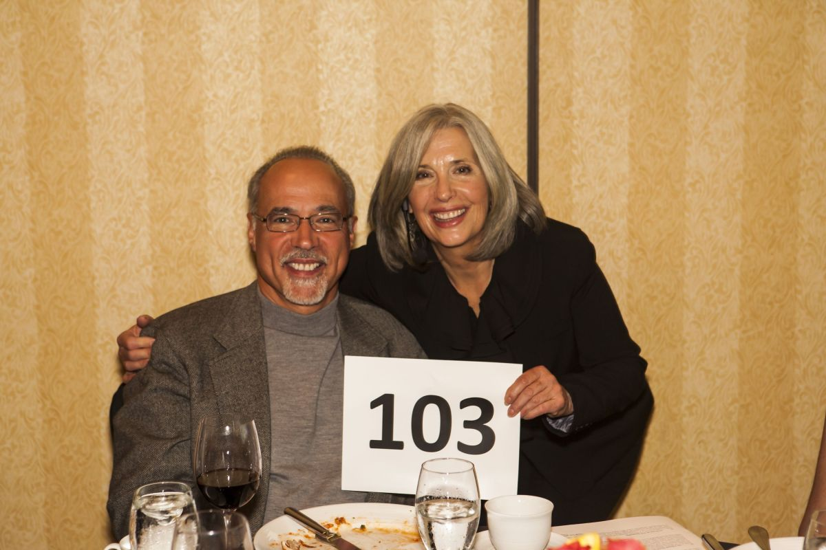 April Brown Auctioneer with Bidder #103