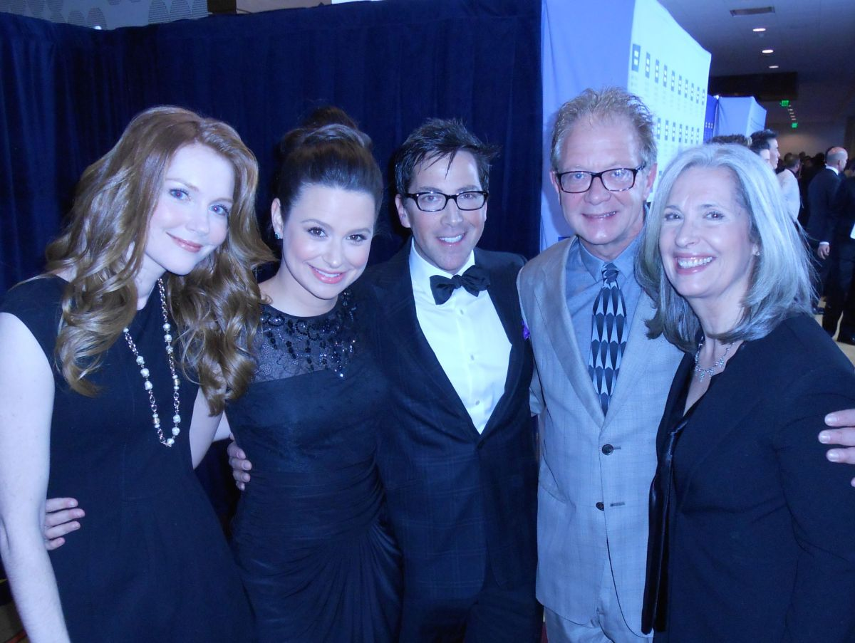 April Brown with Scandal Cast