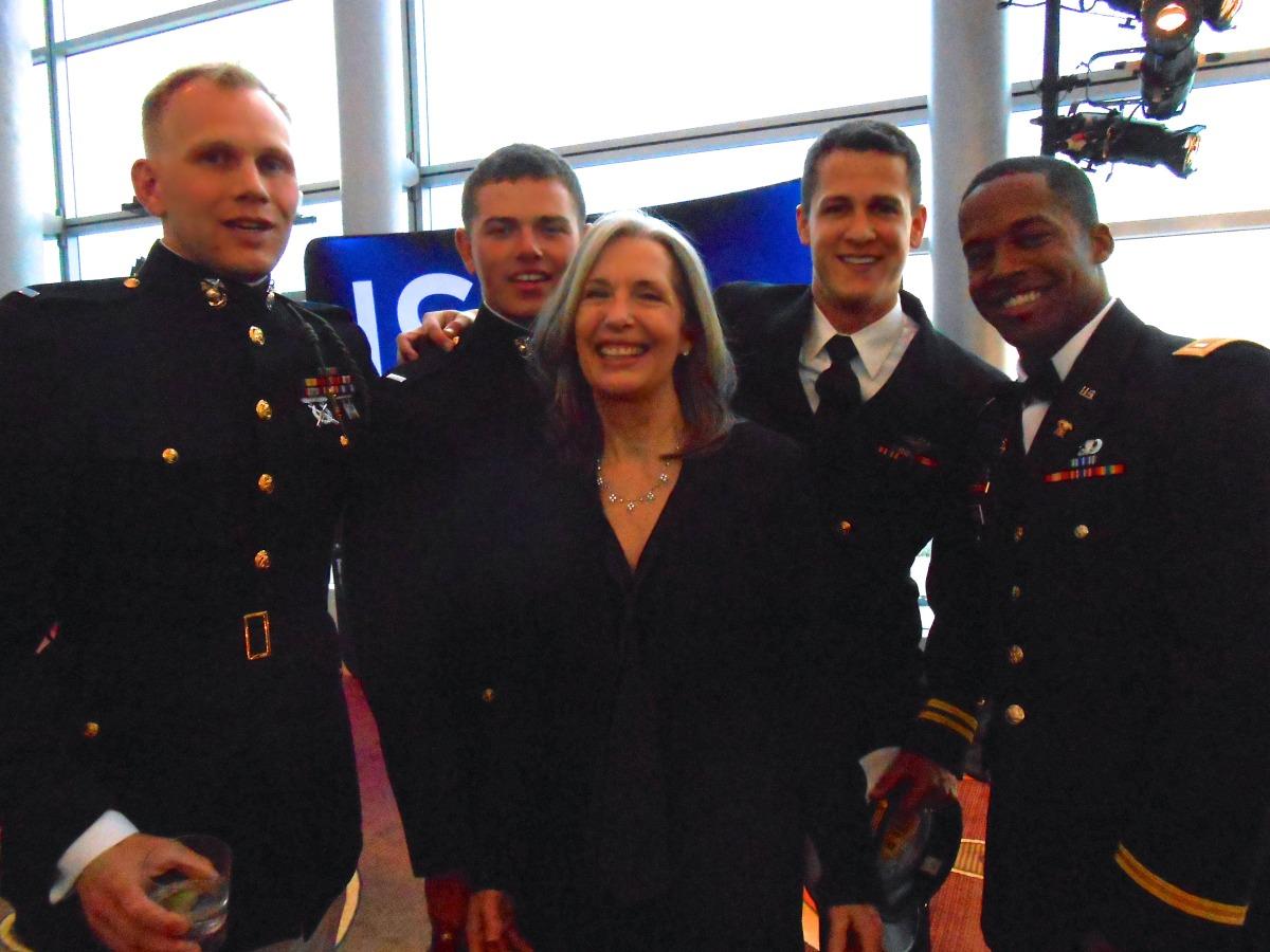 April Brown with Military Pride