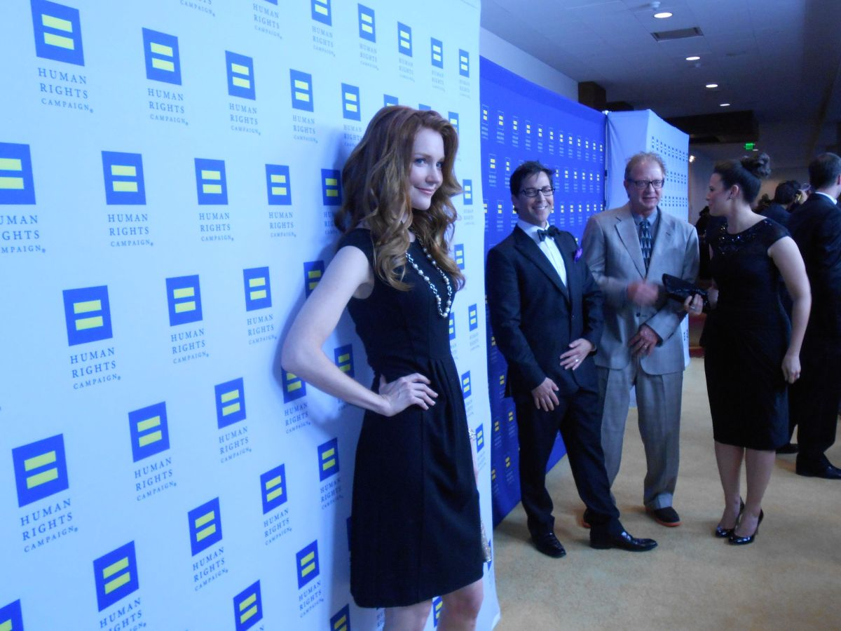 Darby Stanchfield at Human Rights Campaign in Los Angeles