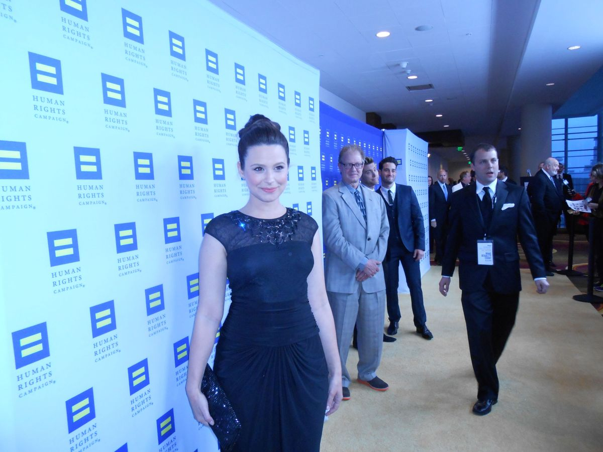 Katie Lowes at Human Rights Campaign Los Angeles