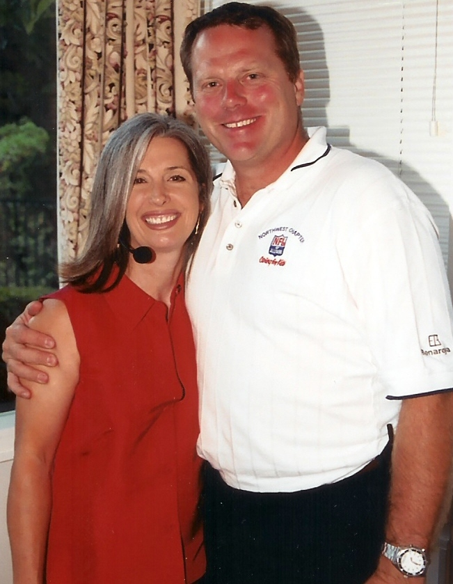 Norm Johnson with April Brown Auctioneer