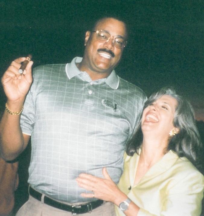 NFL Great Lisa Gangel with April Brown Auctioneer