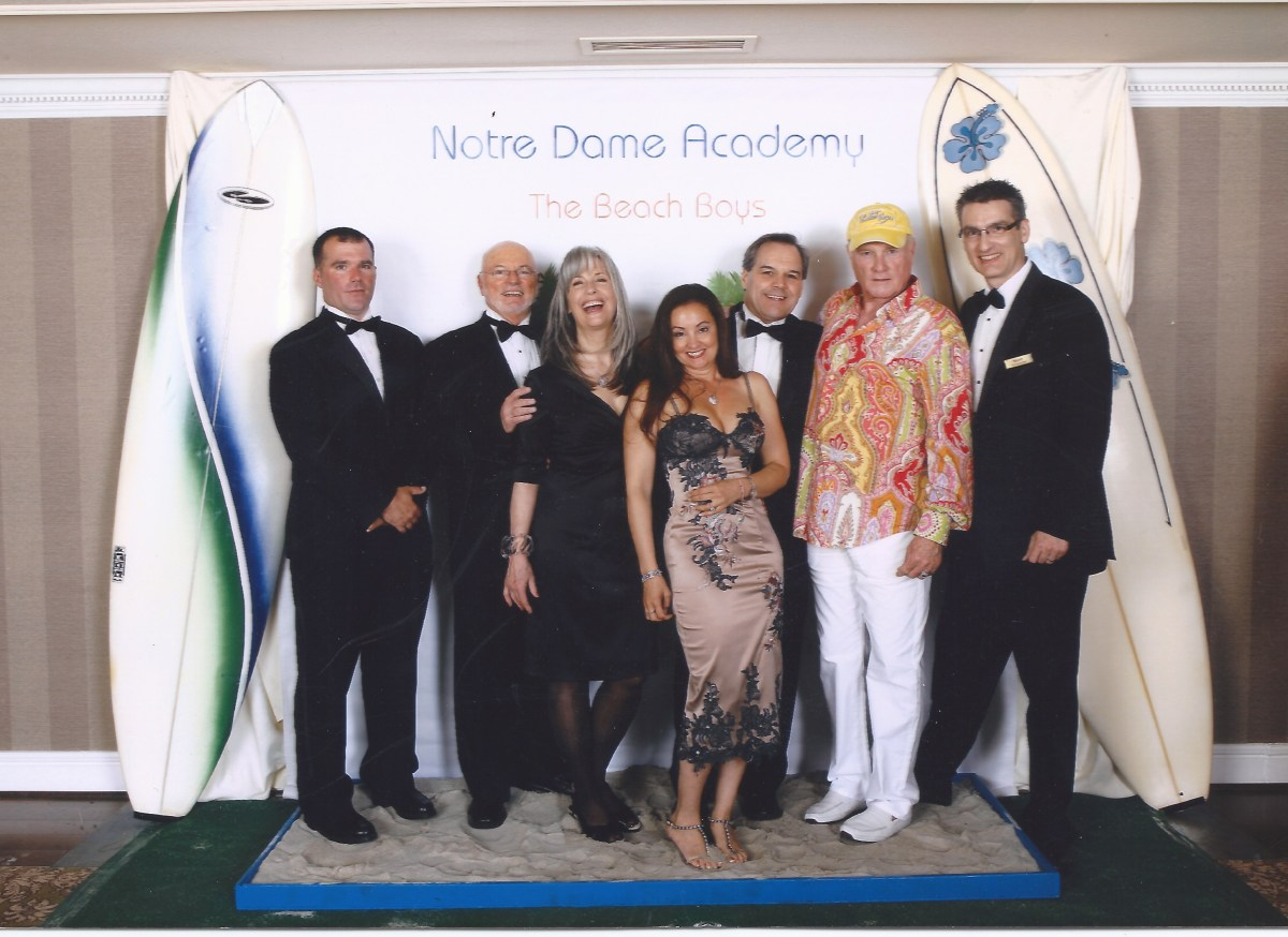 Mike and Jackie Love (BeachBoys) with April Brown Auctioneer