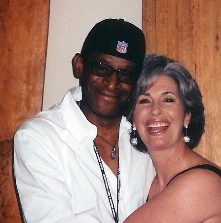 "Antonio Fargus ""Huggie"" with April Brown Auctioneer"