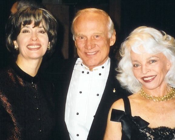 Astronaut Buzz Aldrin with April Brown Auctioneer