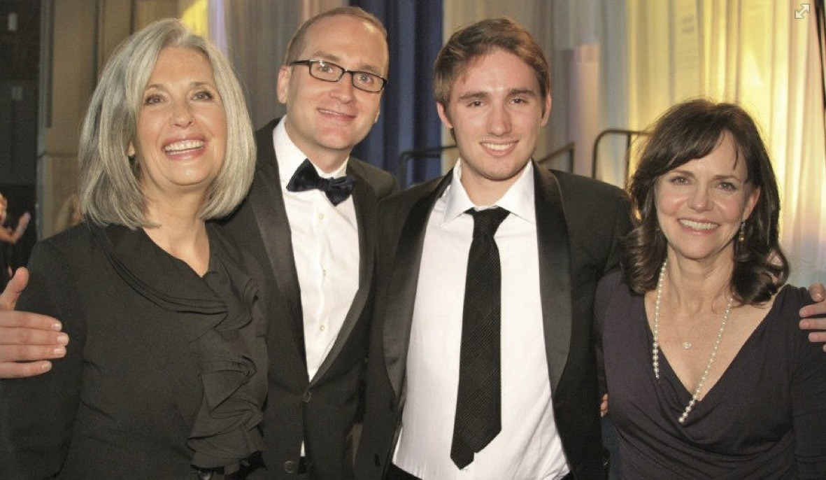 April Brown Auctioneer with Chad Griffin, Sally Field and Samuel Grierson