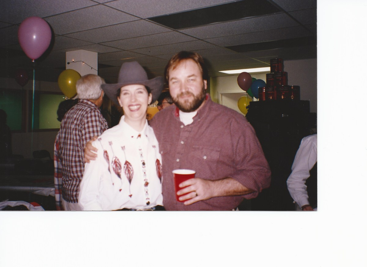 Tool Time's Richard Karn with April Brown Auctioneer