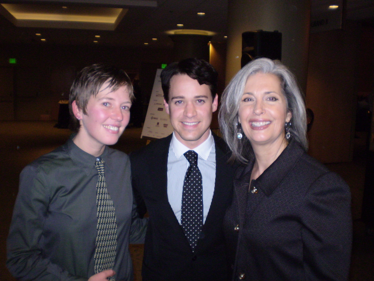 TR Knight with April Brown Auctioneer