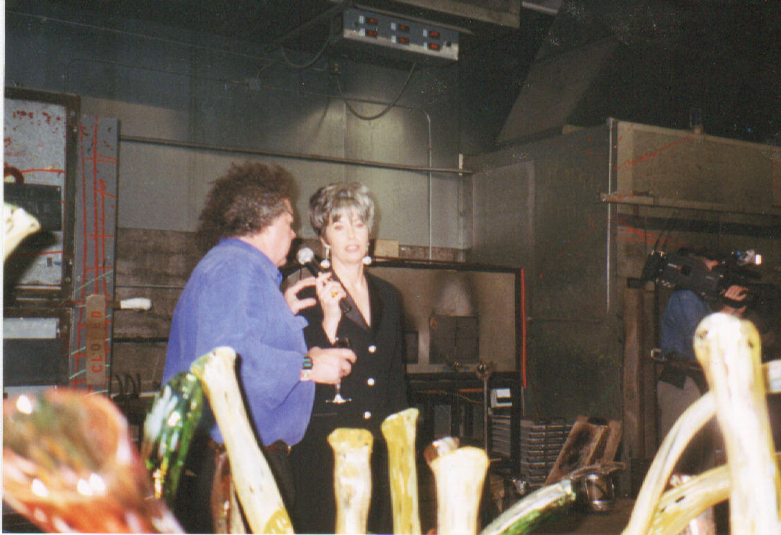 APRIL BROWN WITH DALE CHIHULY
