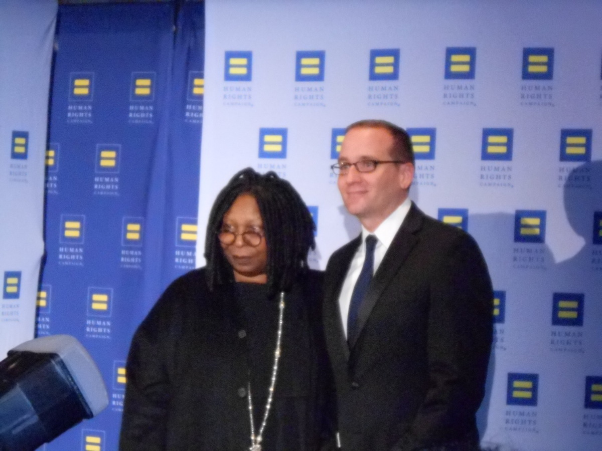 Chad Griffin and Whoopie Goldberg