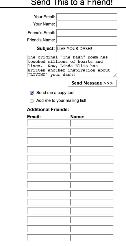 The Tell-a-Friend Form Version 3
