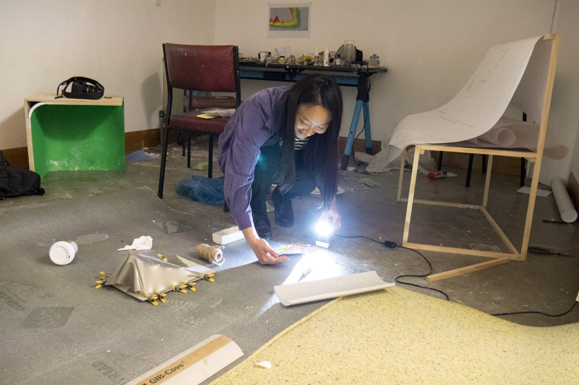Multimedia artist Jossette Chiang in Studio 29