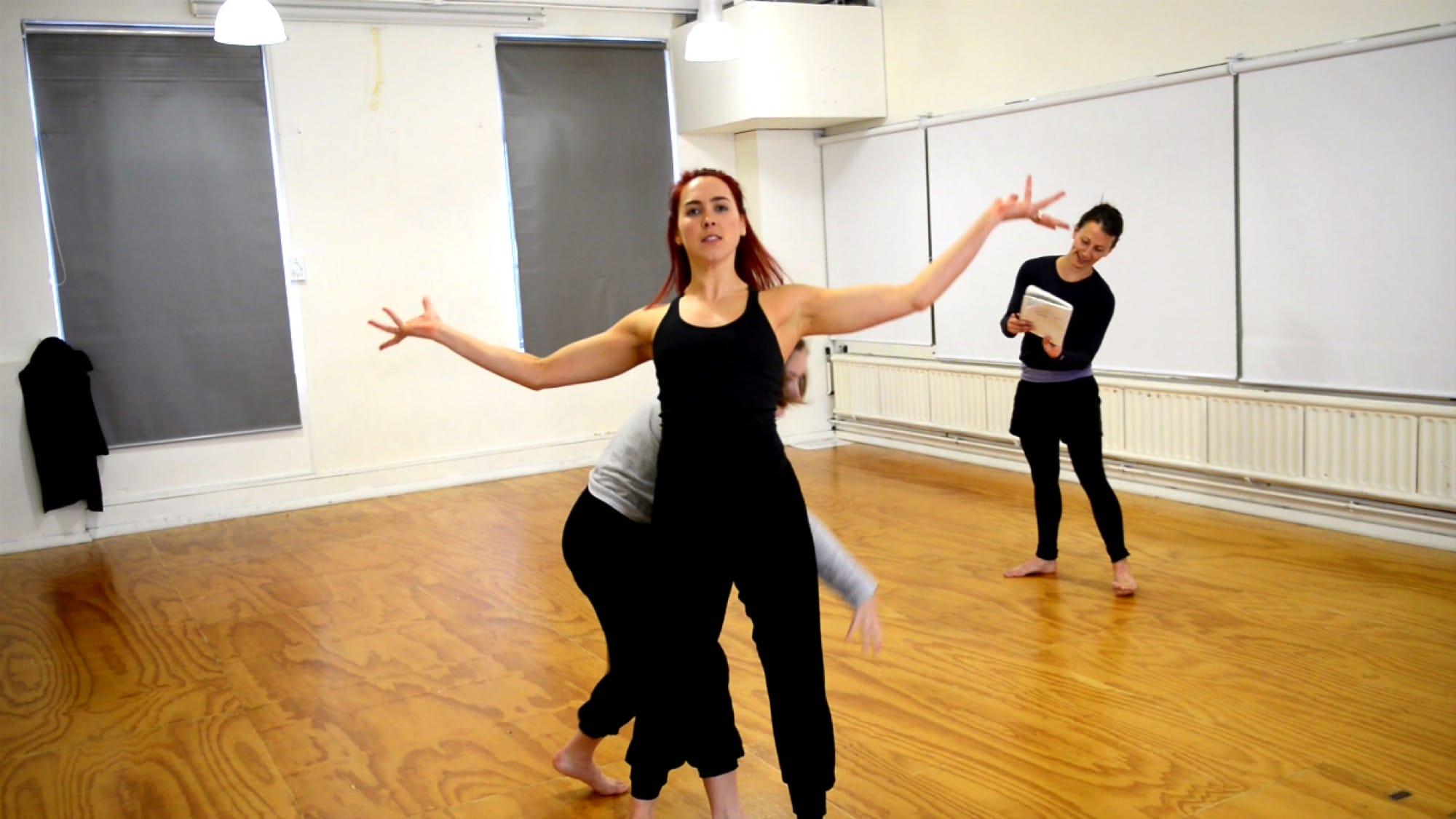 Java Dance Theatre at practice in the Dance Studio