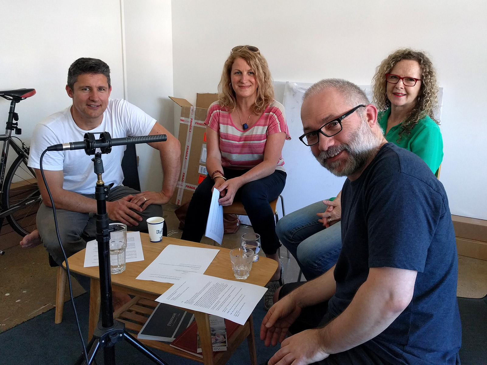 Recording the podcast: Mark, Rachel, Pam and Gary.