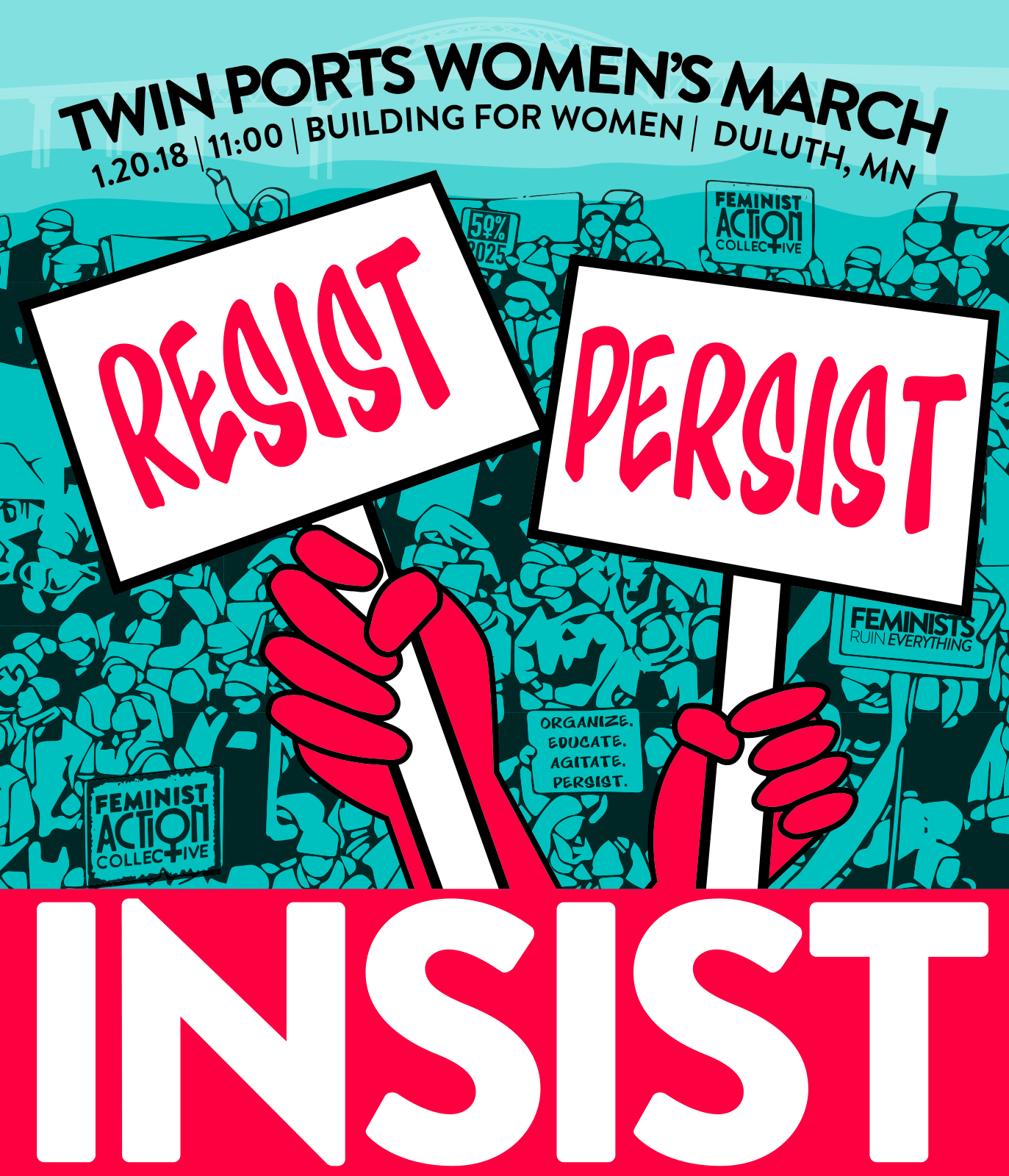 January 20, 201811 a.m. - 12:30 p.m. Starting: Building for Women, 32 E 1st St, Duluth, MN 55802Ending: Duluth City Hall, 411 W 1st St, Duluth, MN 55802 -