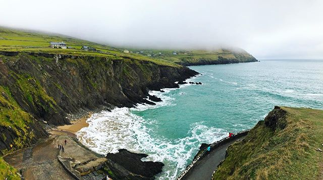 Even when the sun wasn't shining and the clouds dropped down low, Ireland is a beautiful place. 📍Dunmore Head | Slea Head Drive | Dingle Peninsula, Ireland    I could have happily spent all day on Slea Head Drive's 30 miles of road exploring all her sites and scenes. I'd even happily go back to the crazy one lane parts where I had to back up to a point to allow an SUV driving opposite of me to pass. (That was kinda nerve wracking! I can't live without a backup camera on cars now!!!) . . . #ireland #wildatlanticway #irelandtravel #ireland🍀 #ireland_gram #irelandaily #dcblogger #dctravelblogger #walkwithlocals #flydelta #seacliffs #wearetravelgirls #visitireland #dunmorehead #sleaheaddrive #sleahead #dinglepeninsula #dingle #katefromoz #wawpics #loveireland #exploreireland #discoverireland #seacliff #seacliffs #visitireland #beachviews #countykerry #wildatlanticwaykerry #emeraldhills