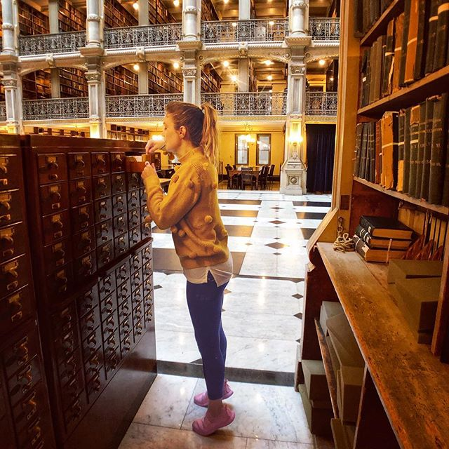 Hanging out in the Stacks 📍George Peabody Library | Baltimore, Maryland    It really is one of the most beautiful buildings I've ever been in. Definitely the most gorgeous library... The George Peabody Library has very limited hours so make sure you check their website before making a visit. 📷: @notorious.jen . . . #baltimore #charmcity #DCdaytrip #mountvernon #georgepeabodylibrary #walkwithlocals #dcblogger #womenintech #travelobsessed #mybmore #visitmaryland #librarystacks #cozyinteriors #cardcatalog #igbaltimore #ig_baltimore #historic #historiclibrary #library #libraryporn #architectureporn #beautifuldestinations #historicarchitecture #beautifullibrary #johnshopkins #johnshopkinsuniversity #booklover #rarebooks