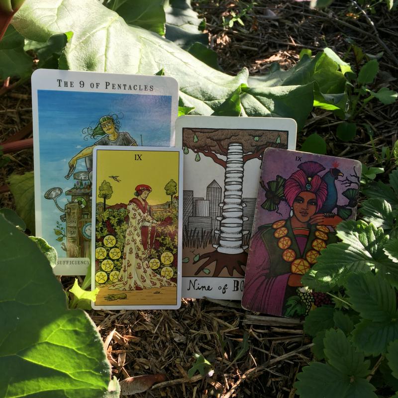 L-R: Next World Tarot, After Tarot, Collective Tarot, Morgan Greer