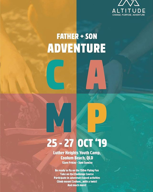Come join us later this month for our Father Son camp.