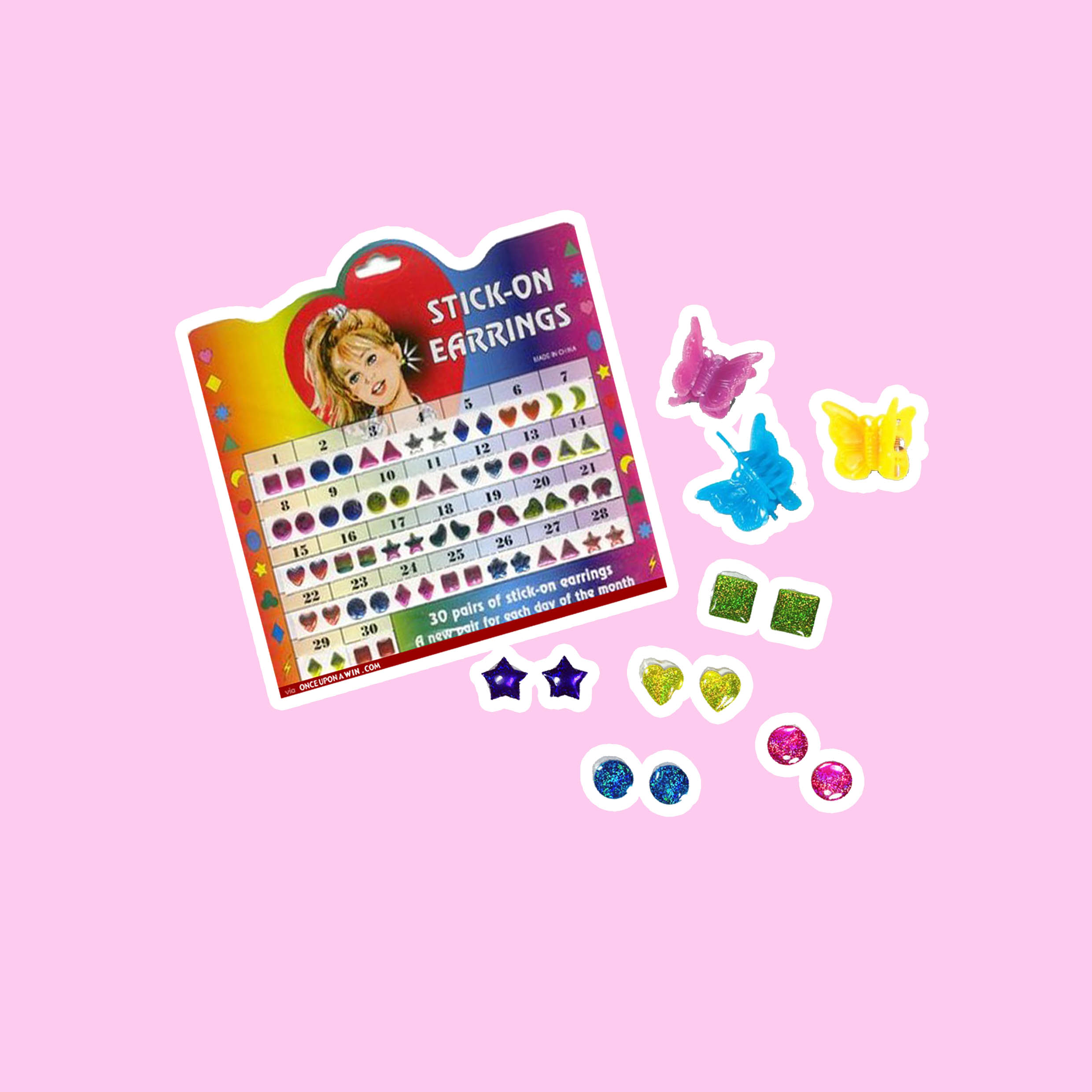 STICK - Nothing beats some playground glam until you lose an earring. Your local $2 value store had us all covered, from moons and stars to dolphins - maybe if you were a dare devil you'd even mix and match!