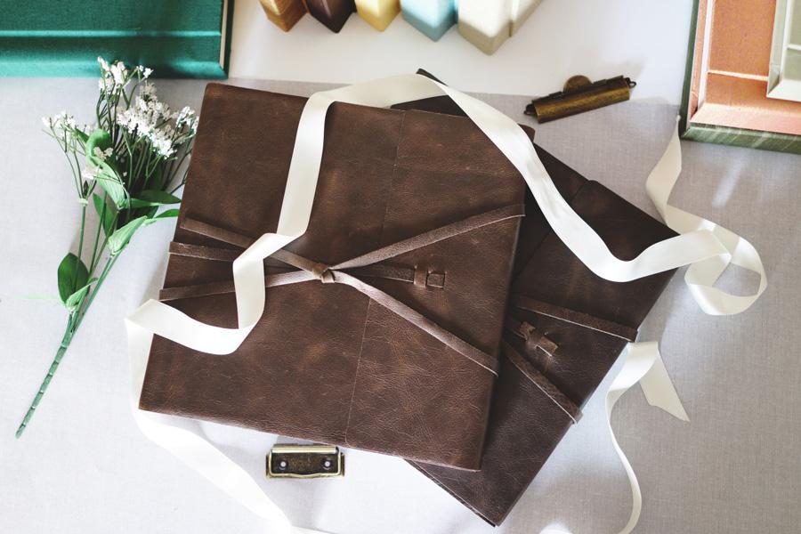 Handmade Leather Wedding Album
