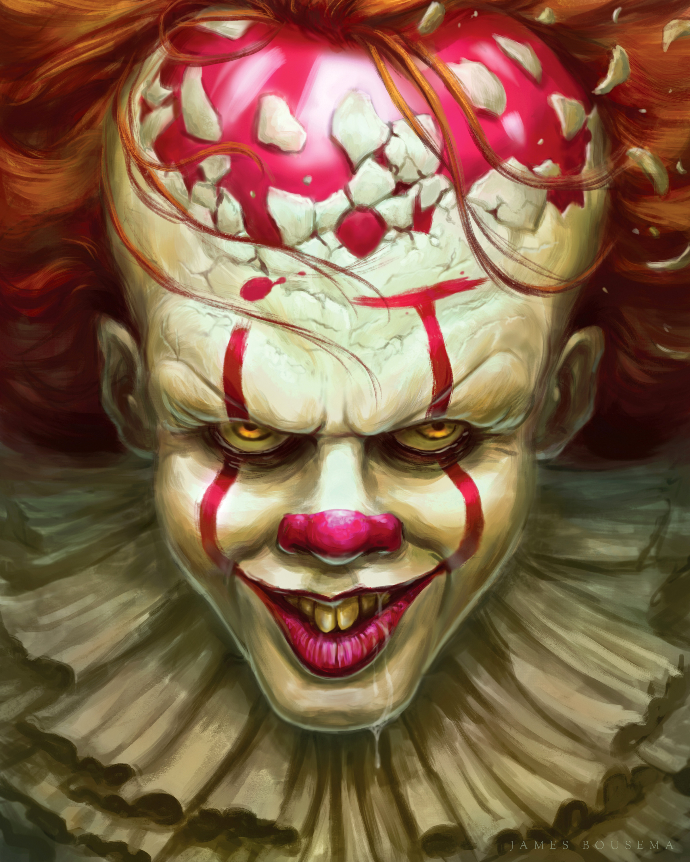 Pennywise the clown from the 2017 film. A design I did for the BAM! box subscription service Done in Photoshop CS6