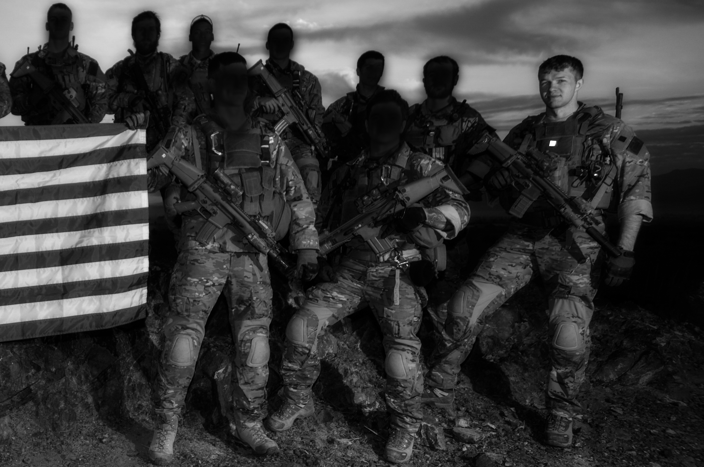 Me with a few guys from our platoon on my last trip to Afghanistan as a soldier in 2009.