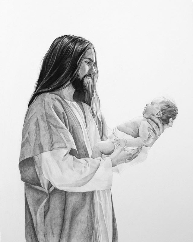 "We finally finished our drawing titled ""Alive in Christ"". So many of you requested prints so we are now selling them in size 16""x20"" and 8""x10"" in our website latterdaybaby.com. We all know someone who is going through infertility or who has dealt with the loss of a baby through a miscarriage, stillborn, or complications after birth. We wanted to create something meaningful for them to bring hope during such a difficult time. Mother's Day is coming up, for those of you who want it before Mother's Day, and live close to Orem, you can choose ""local pick up"" at checkout and we will email you our pick up times. Otherwise your print will ship on Monday but might not make it in time for Mother's Day if you live outside of Utah."
